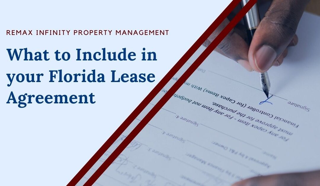 What to Include in your Florida Lease Agreement